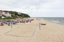 Volleyballnetz am Strand